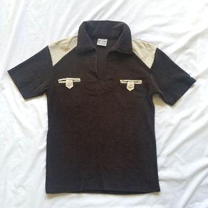 Vintage Mens Brown Polo